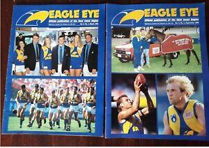 West Coast Eagles Eagle Eye AFL Publications Vol 6 No's 1 & 3 1994 in VG Cond