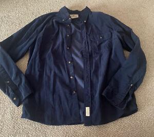 Navy Hollister Cord Long Sleeve Shirt Size M