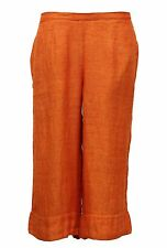 FLAX BOLD LINEN BANDED BLOOMERS CROPPED POCKET PANT BLOODY MARY SMALL 7 - 10