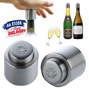 Stainless Steel Sealer Bottle Stopper Fresh Vacuum Sealer Champagne/Red Wine