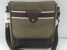 Men's FOSSIL Brand LANE CITY Olive Tan Brown Messenger Bag - $100 MSRP - 10% off