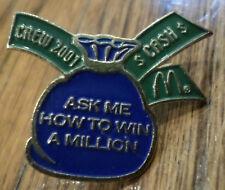 Mcdonald'S Service Award Hat Lapel Pin Ask Me How To Win A Million Crew 2001