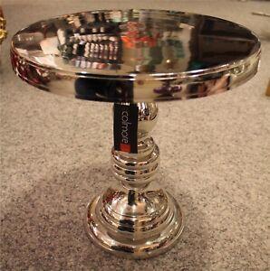 Colmore Tisch Beistelltisch Rund Alu Silber Nickel Modern Höhe 41cm NEU