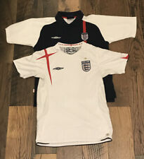 Vintage 2 Jersey Lot Umbro England National Team World Cup Football Soccer Kit