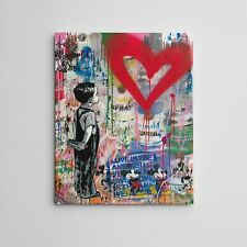 "16X20"" Gallery Art Canvas: Mr. Brainwash Thierry Guetta Los Angeles Street Art"