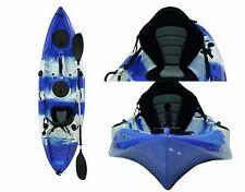 Fishing Kayak Sit on Kayaks 5 Rod Holders Deluxe Seat & Paddle + Dry Bag - Blue