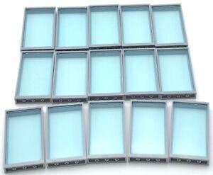 LEGO 15 Neuf Transparent Bleu Clair Windows Avec Bleuâtre Gris Cadres Maison