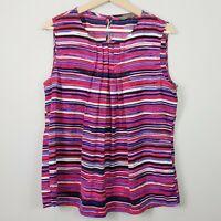 [ JACQUI.E ] Womens Striped Blouse Top   Size AU 14