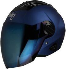 Steelbird Sba-3 Open Face Matt Yamaha Blue Motorcycle  Helmet With Extra Visor-M