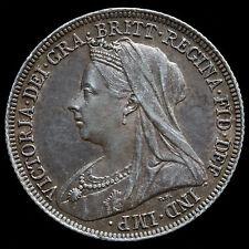 1897 Queen Victoria Veiled Head Silver Shilling – EF  #2
