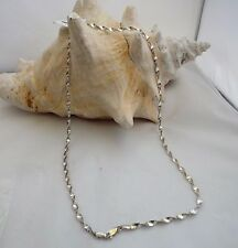 """Sterling Silver Twisted Herring Bone 18"""" Chain, Italy 4mm 7.6 grams Tarnish Free"""