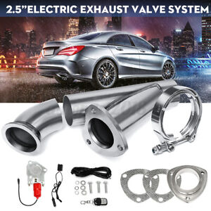 2.5''Electric Exhaust Catback Downpipe Cutout E-Cut out Valve Kit Remote Control