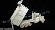 BIG RIG Construction Toy - Amish Handmade Wooden Dump Truck Toy