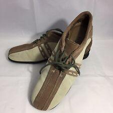 David Tate Wow Casual Oxfords Women's 8.5 Narrow Tan Brown Suede Walking Shoes