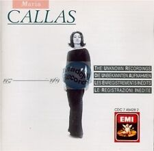 MARIA CALLAS the unknown recordings CD EMI cdc 7 49428 2 cd japan / cover uk