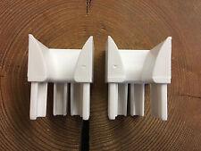 3 Paar  MENKE Rolladen Einlauftrichter PVC Rechts und Links verwendbar 37x40mm