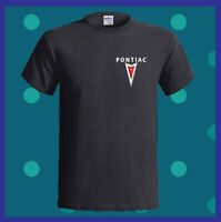 PONTIAC Logo Classic Sport Car Emblem NEW Men's Black T-Shirt S M L XL 2XL 3XL