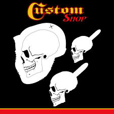 Custom Shop Airbrush Stencil Skull Design Set #2, 3 Laser Cut Reusable Templates