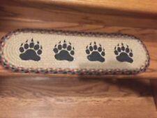 Bear Paw Print 13 pc Braided Stair Tread set by Earth Rugs