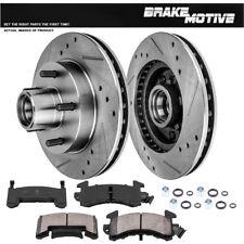 Front Drill Slot Brake Rotors + Ceramic Pads For Camaro El Camino Malibu S-10