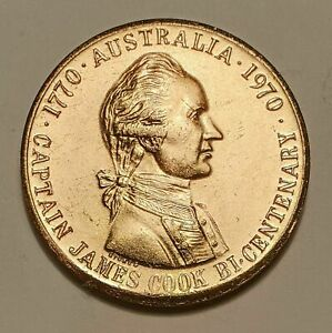 1970 Captain James COOK  Bicentenary State Savings Bank OF Victoria MEDALLION