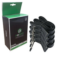 4x Positz Road Bike Inner Bicycle Tubes - 700x18/25C, 48mm Presta Valve, Butyl