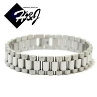 """7.5""""--10""""MEN's Stainless Steel 10mm/15mm Silver Watch Band Link Chain Bracelet"""
