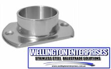 2'' STAINLESS OBLONG BASE PLATE FLANGE 2 HOLE 316 GRADE