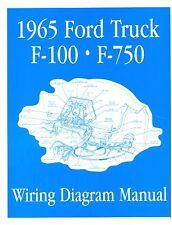1965  FORD F100-F750 TRUCK WIRING  MANUAL