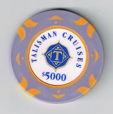 TALISMAN CASINO CRUISE SHIP HARD TO FIND $5,000.00 GAMING CHIP TEXAS!