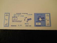 1989 Los Angeles Dodgers vs. New York Mets Full Unused Ticket Stub (Sku1)