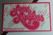 LOVE AND & LIPGLOSS LIP GLOSS BLOG CLOTHING CLOTHES PINK WHITE MUSIC STICKER
