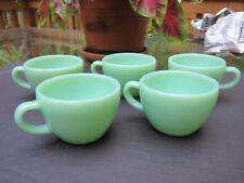 (5) FIVE  50's VTG FIRE KING JADITE OVEN WARE HEAVY RESTAURANT COFFEE CUPS/MUGS