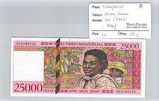 BILLET MADAGASCAR - 25 000 FRANCS (1998) - NEUF !!!