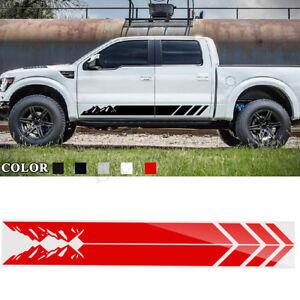2PCS Door Side Skirt Stripe Sticker Decal For Ford Raptor SVT F 150 2009-2018