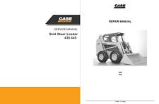 Case 435 445 Skid Steer Loader 6-75490 Service Repair & Engine Manual in binder