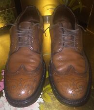 Men size 9.5 Vintage Hanover LB Sheppard Signature Longwings Brown Dress Shoes