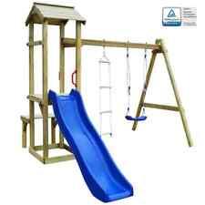 vidaXL Houten Speelhuis Glijbaan, Ladder en Schommel FSC Speeltoestel Spelen