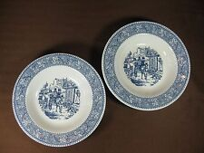 Shakespeare Country Set of 2 Rimmed Soup/Cereal Bowls Carriage Scene Made in USA