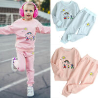 Toddler Kids Baby GirlS Boy Sports Suit Pullover Tops+Sun Pant Set Outfit 1-6Y