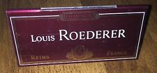 LOUIS ROEDERER CRISTAL  CHAMPAGNE  TABLE RESERVED PLAQUE METAL NEW X 1