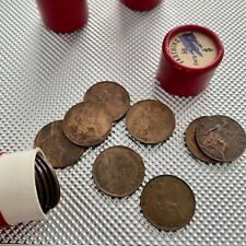 More details for original full tube x50 mixed date farthing british coins historical banking tube