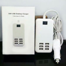 Universal 6 Port USB Desktop Multi-Function Fast Car Charger Power Adapter Top