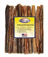 "10 Count 12"" JUMBO Shadow River USA STEER Bully Sticks Dog Treats Chew"