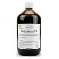 (17,90/L) Sala Bio Hanföl Hanfsamenöl kaltgepresst nativ 1000 ml 1 L