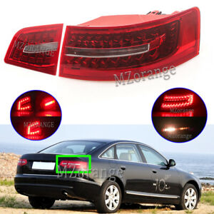 2x Right Driver Side LED Rear Outer Inner Tail Light Lamps For Audi A6 2009-2012