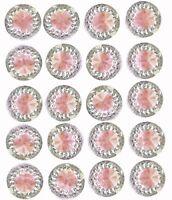 40 x Self Adhesive Pink Round Diamante Rhinestones Acrylic Crystals Stick on Gem