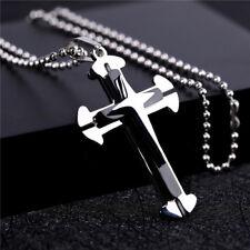Titanium lightning cross pendant necklace come with chain (C2)