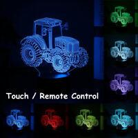 3D Traktor Auto Nachtlicht Tischlampe Illusion Optische Lampe LED 7