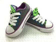 CONVERSE ALL STAR BABY GIRL INFANTS LACE UP MULTICOLOR TEXTILE SHOES SIZE 3